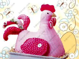 Как сшить курицу пасхальнную