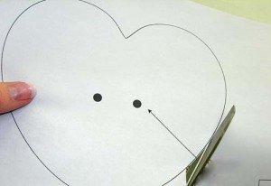 Сердечко из картона