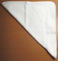 Согнуть полотенце по диагонали