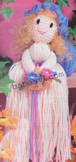 Вязание крючком куклы мотанки