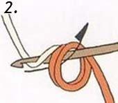 Второй шаг вязания кольца амигуруми