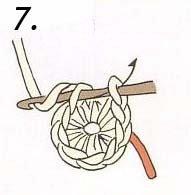 Седьмой шаг вязания кольца амигуруми