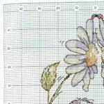 Схема ромашки для вышивки