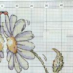 Схема второй ромашки для вышивки