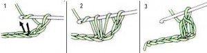 Как связать крючком полустолбик с накидом