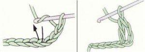Как связать крючком столбик с накидом