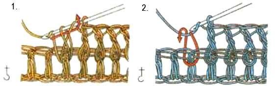 Как вязать рельефные столбики крючком