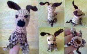 Как связать крючком пальчиковую игрушку Собачку