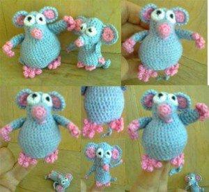 Как связать пальчиковую игрушку Мышка