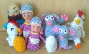 Пальчиковые игрушки из сказки Курочка ряба