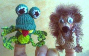 Пальчиковые игрушки Еж и Лягушка