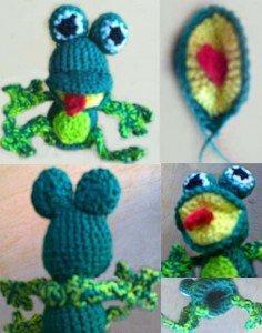 Как связать пальчиковую игрушку Лягушку