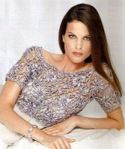 Блуза из ленточной пряжи