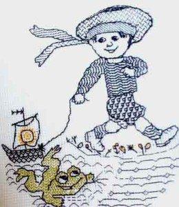 Вышитый моряк