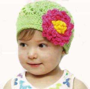 Как связать летнюю шляпку с большим цветком