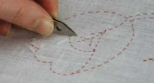 Перевод дизайна на ткань пятый шаг