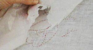 Перевод дизайна на ткань четвертый шаг