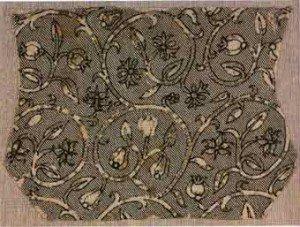 Ткань на старинных головных уборах