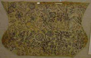 Сложный старинный рисунок на ткани