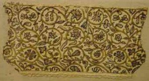 Таринная вышитая цветами ткань