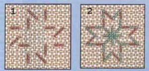 Пример стежка Гольдбейна