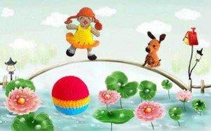 Связанная крючком пальчиковая игрушка девочка Таня