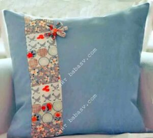 Простая лоскутная подушка
