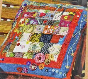 Стильная лоскутная подушка