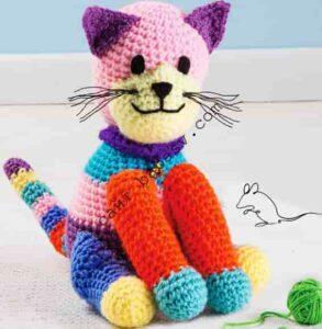 Полосатая игрушка большой кот