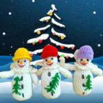 Вязаные  крючком снеговики