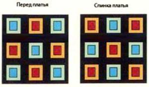 Схема мотивов для подушки