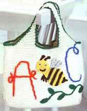 Как связать детскую сумочку