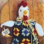 Цыпленок и вязаные квадраты