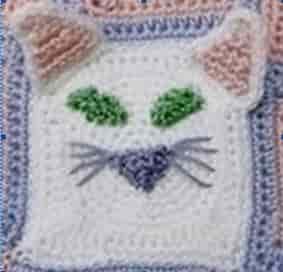 Как оформить мотив пледа с котенком