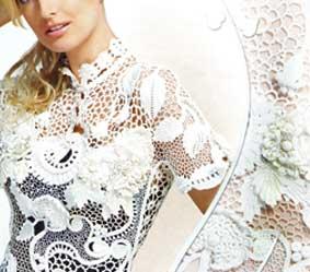 Белая блуза из журнала Дуплет