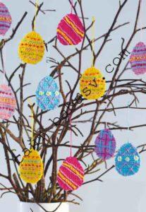 Как связать и вышить яйцо