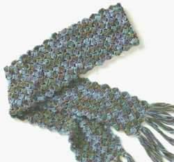 Как связать шелковый шарф