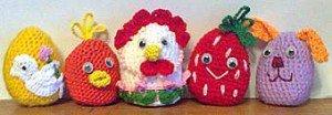 Пасхальные яйца с разными украшениями