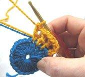 Смена нитей при вязании