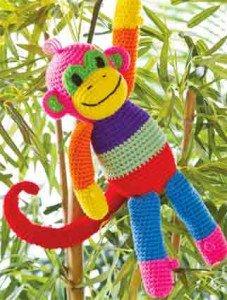 Обезьянка разноцветная крючком
