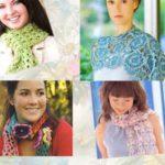 Связанные крючком четыре шарфа