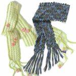 Два шарфика к весне связаны крючком
