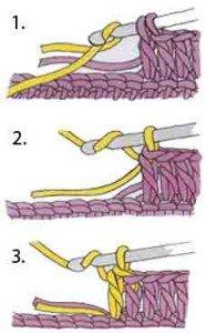 Как закрепить хвостик нити при вязании