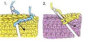 Как соединять детали крючком потайным швом