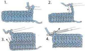Как правильно вязать края плоского вязания