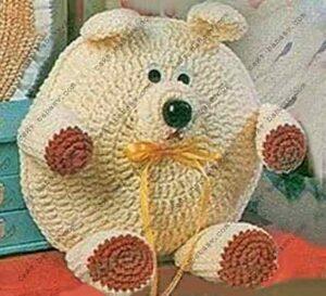 Круглые игрушки подушки Медведь связать крючком