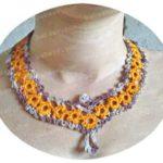 Ожерелье с желтыми цветочками