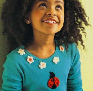 Аппликации на детскую одежду цветы и насекомое