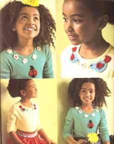 Аппликации на детскую одежду связать крючком