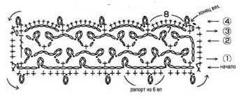 Схема вязания украшения